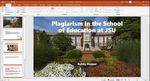 Plagiarism in the School of Education at JSU
