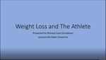 Weight Loss and the Athlete by Richard Donaldson