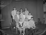 Group of 1950s Students on Stage in College Auditorium 1 by Opal R. Lovett