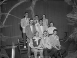 Group of 1950s Students on Stage in College Auditorium 2 by Opal R. Lovett