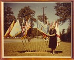 Annie Rowan Forney Daugette Stands with Flags by unknown