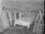 Leone Cole Home Economics Club Members Around Table of Desserts by Opal R. Lovett