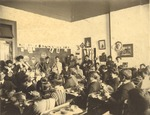 State Normal School Class at Work inside Hames Hall 2 by unknown
