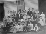 Students Outside the Loveless School Building 3 by unknown