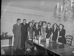 Reception Introducing 1949 Exchange Students Held at International House by Herbert Cunningham