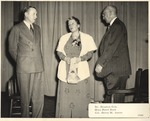 President Houston Cole and Colonel Harry Ayers with Noted Author Pearl Buck by unknown