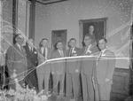 Group of Men Inside Bibb Graves Hall by Opal R. Lovett