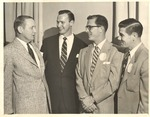President Houston Cole and Head Coach Don Salls with Men by unknown