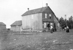 Family Outside Circa 1890s Home 1 by unknown