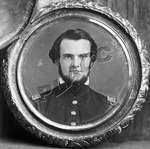 Framed portrait of John Horace Forney as a young man, circa 1850s by Russell Brothers Studio
