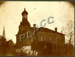 Calhoun County Court House on the square in Jacksonville, Alabama, circa 1880 by Anniston-Calhoun County Public Library
