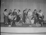 Group of 1950s Students Gather on Stage by Opal R. Lovett