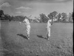 Lew Bradley and Jimmy Little, 1951-1952 Baseball Players by Opal R. Lovett