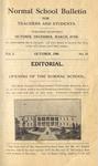 Quarterly Bulletin   October 1908