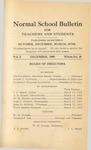 Quarterly Bulletin | December 1909