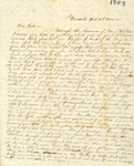 Correspondence   Letter from Lucy Caldwell to Mary Caldwell, April 1848