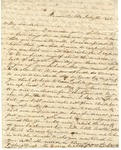 Correspondence   Letter from Eliza Garrett to Mary Caldwell, July 1851