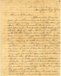 Correspondence | Letter from Thomas Gamsey to John Henry Caldwell, July 1853