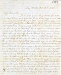 Correspondence   Letter from Lucinda Greer to John Henry Caldwell, October 1853