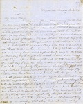 Correspondence   Letter from Lucinda Greer to Mary Caldwell, July 1854