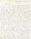 Correspondence   Letter from Willie Caldwell to James Caldwell, October 1854