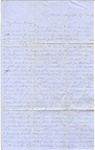 Correspondence   Letter from Lucinda Greer to Mary Caldwell, August 1855