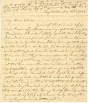 Correspondence | Letter from Lucinda Greer to Mary Caldwell, December 1855