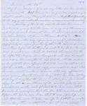 Correspondence | Letter from Lucinda Greer to Mary Caldwell, January 1856