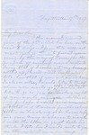 Correspondence | Letter from Lucinda Greer to John Henry Caldwell, March 1857