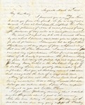 Correspondence   Letter from John Henry Caldwell to Mary Caldwell, March 1857