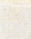 Correspondence   Letter from Lucinda Greer to Mary Caldwell, July 1857
