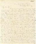 Correspondence   Letter from Lucinda Greer to John Henry Caldwell, February 1860