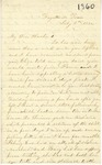 Correspondence | Letter from Mary Caldwell to John Henry Caldwell, July 1860