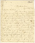 Correspondence | Letter from Mary Caldwell to John Henry Caldwell, August 1860