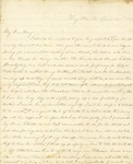 Correspondence   Letter from Lucinda Greer to Mary Caldwell, April 1861