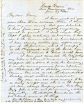 Correspondence   Civil War letter from John Henry Caldwell to Mary Caldwell, June 1861