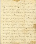 Correspondence | Civil War letter from John Henry Caldwell to Mary Caldwell, July 1861