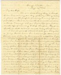 Correspondence | Civil War letter from John Henry Caldwell to Mary Caldwell, August 1861