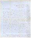 Correspondence | Civil War letter from John Henry Caldwell to Mary Caldwell, September 1861