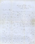 Correspondence | Civil War letter from John Henry Caldwell to Mary Caldwell, November 1861