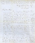 Correspondence   Civil War letter from John Henry Caldwell to Mary Caldwell, November 1861
