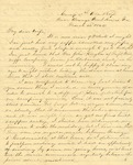Correspondence | Civil War letter from John Henry Caldwell to Mary Caldwell, March 1862