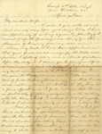 Correspondence   Civil War letter from John Henry Caldwell to Mary Caldwell, April 1862