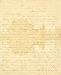 Correspondence | Civil War letter from John Henry Caldwell to Mary Caldwell, June 1862