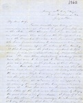 Correspondence | Civil War letter from John Henry Caldwell to Mary Caldwell, July 1862