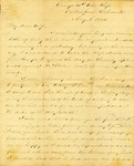 Correspondence   Civil War letter from John Henry Caldwell to Mary Caldwell, August 1862