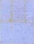 Correspondence   Civil War letter from John Henry Caldwell to Mary Caldwell, October 1862