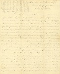Correspondence   Civil War letter from John Henry Caldwell to Mary Caldwell, November 1862