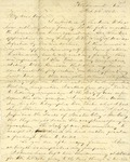 Correspondence   Civil War letter from John Henry Caldwell to Mary Caldwell, February 1863