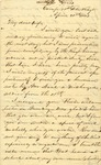 Correspondence   Civil War letter from John Henry Caldwell to Mary Caldwell, April 1863
